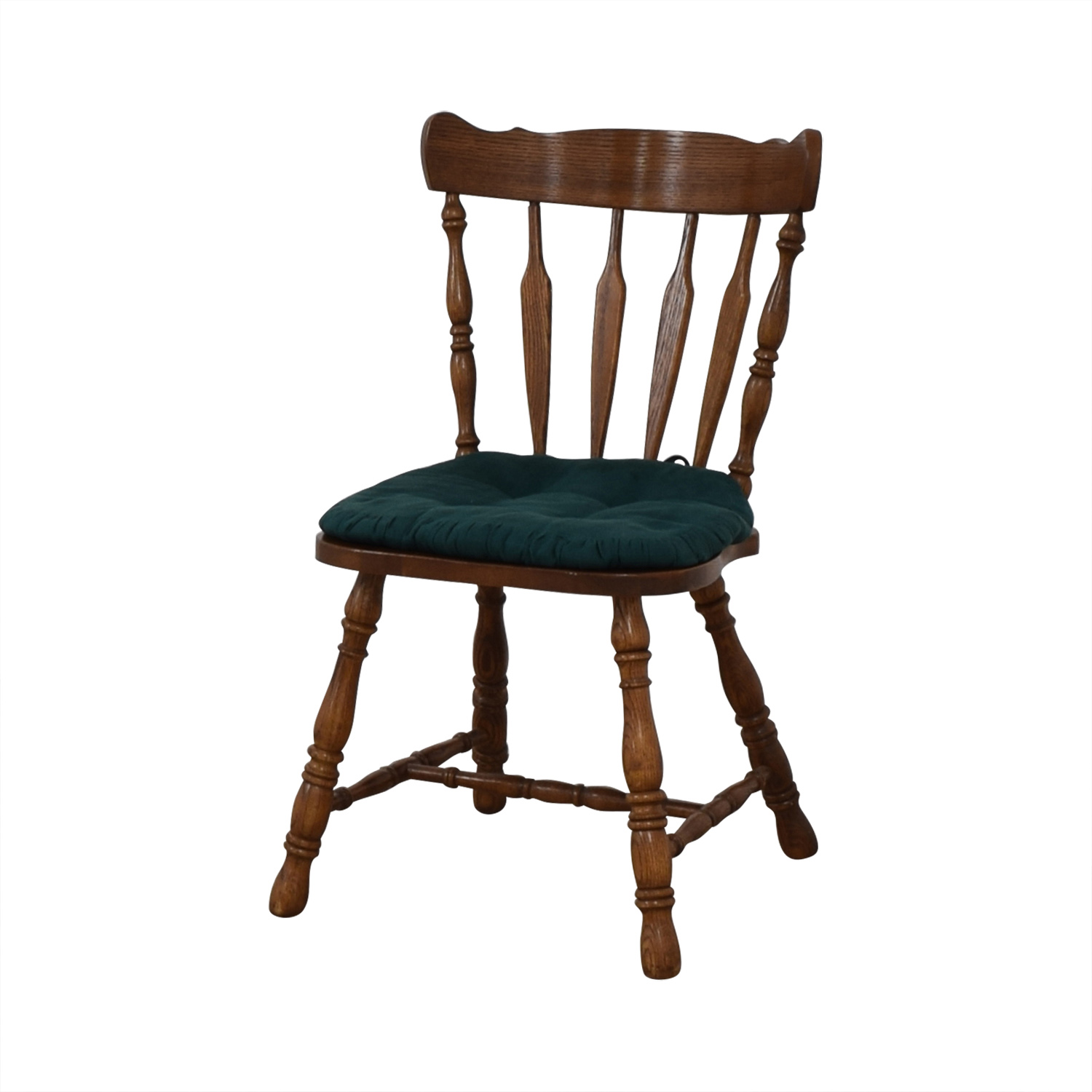 Wood Chair with Teal Cushion / Tables