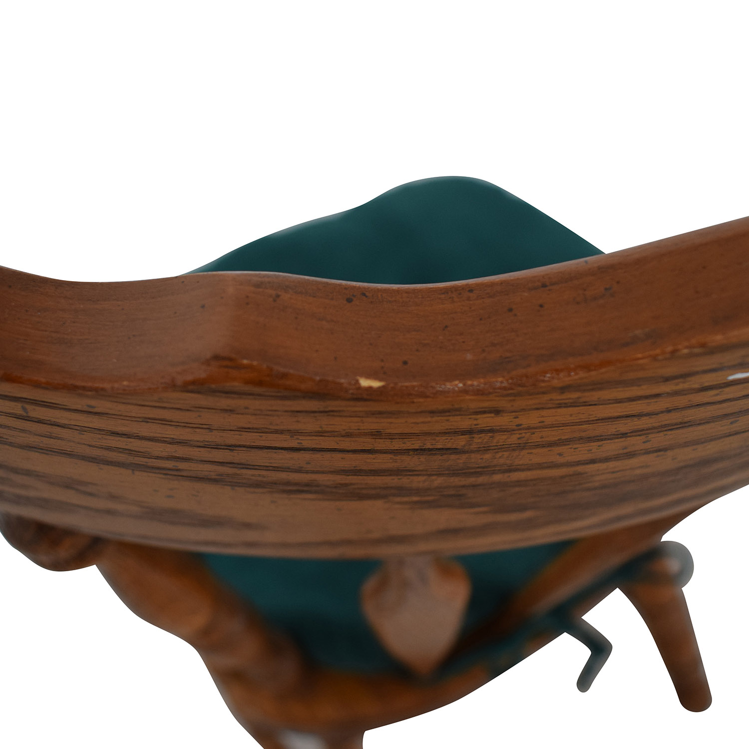 shop Wood Chair with Teal Cushion  Tables