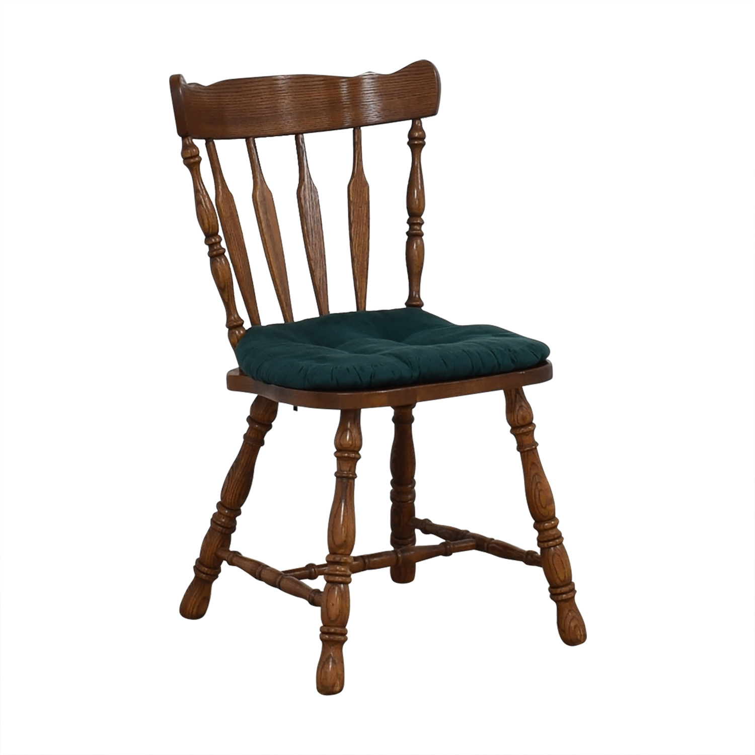 Wood Chair with Teal Cushion discount