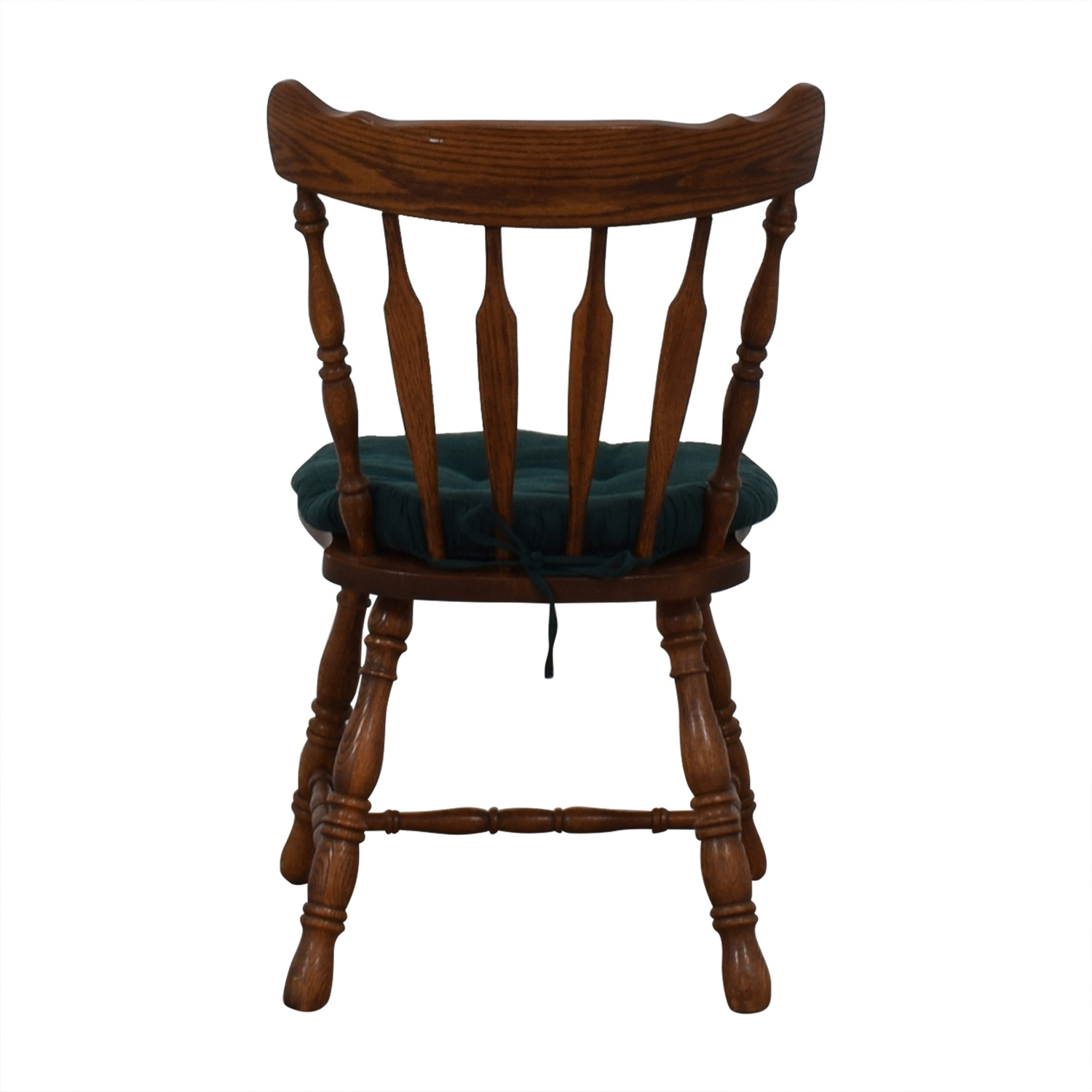 Wood Chair with Teal Cushion price