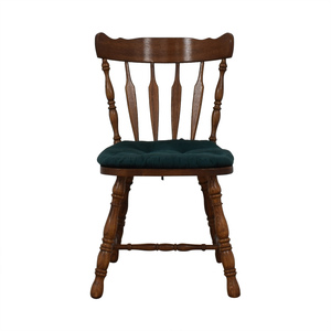 Wood Chair with Teal Cushion coupon