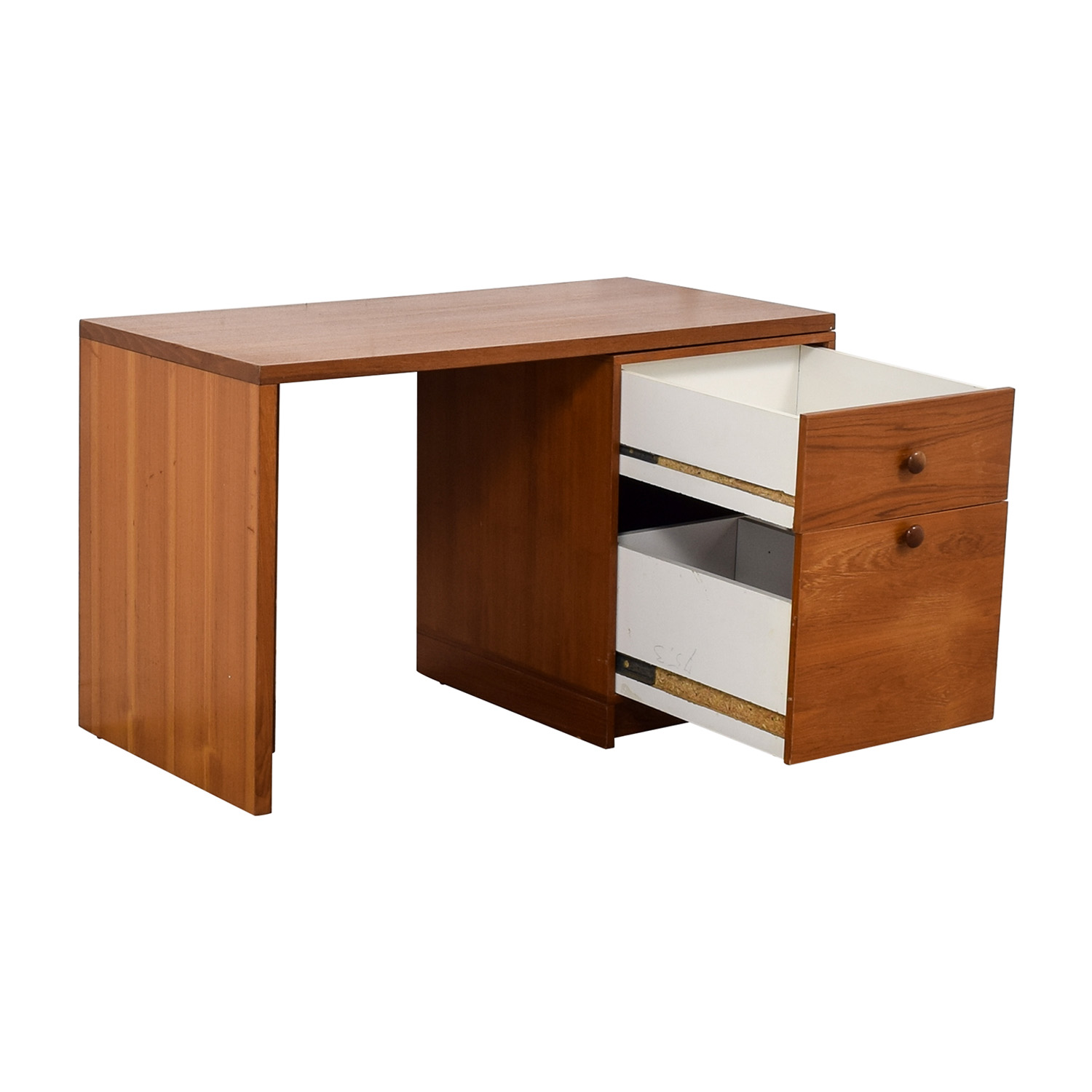 Two-Drawer Desk brown