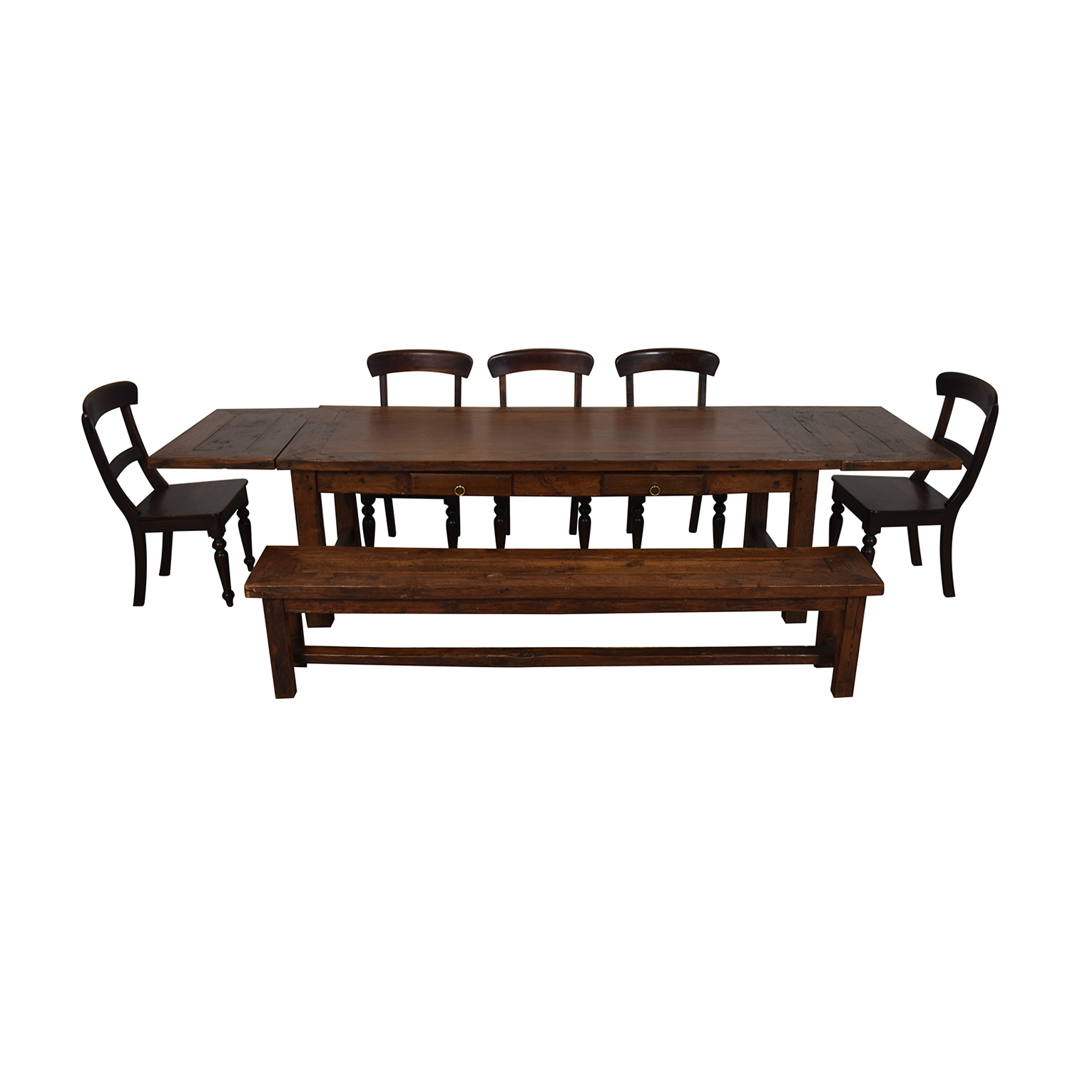 Crate & Barrel Extendable Dining Set with Bench sale