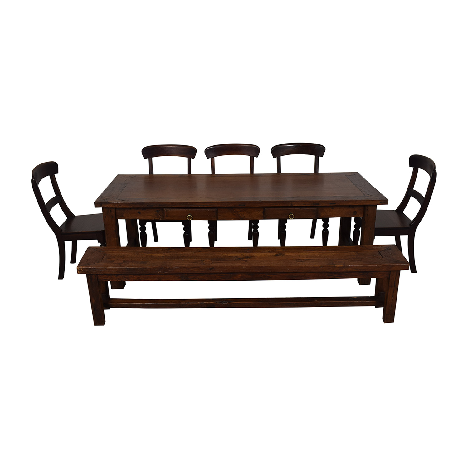 Crate & Barrel Extendable Dining Set with Bench Crate & Barrel