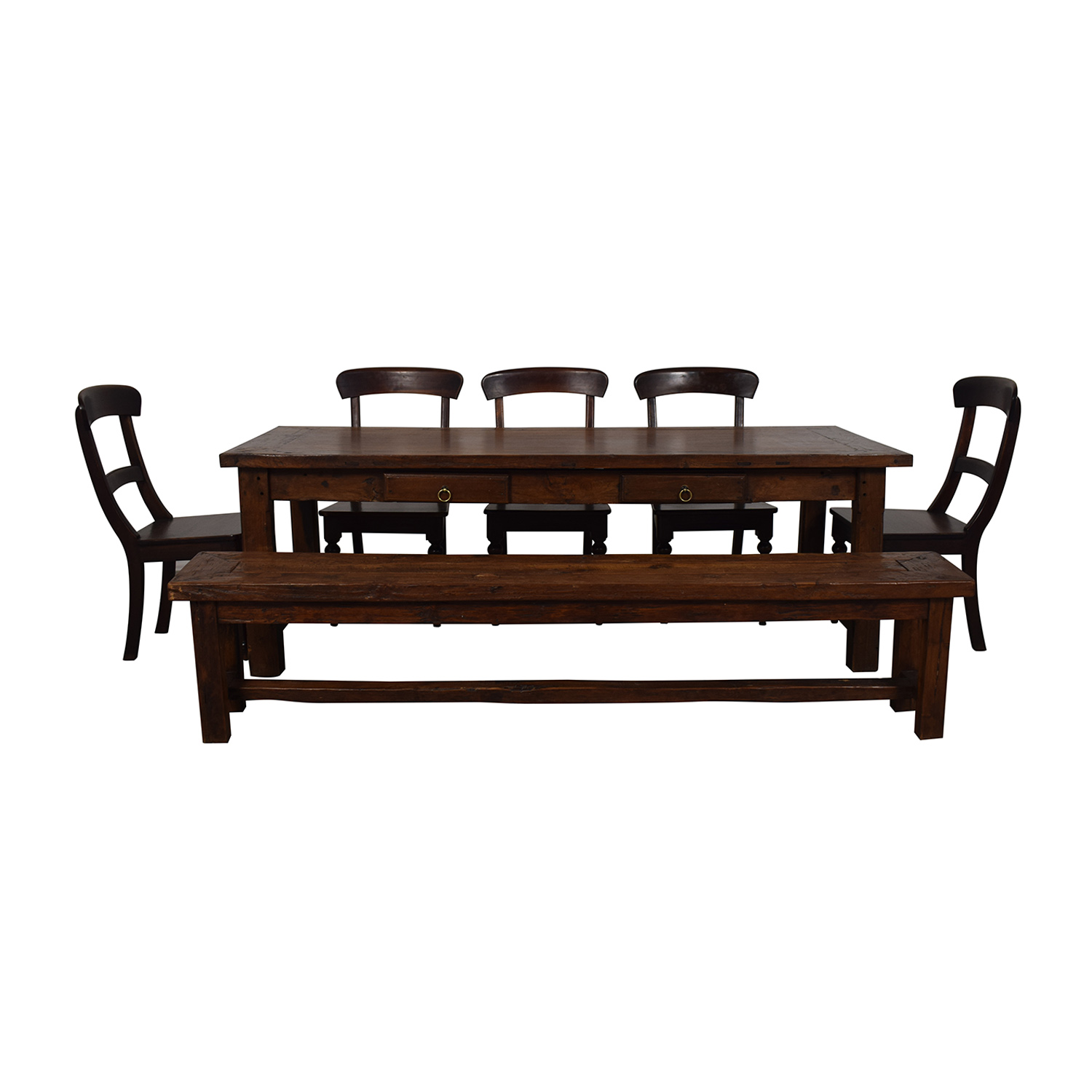 buy Crate & Barrel Extendable Dining Set with Bench Crate & Barrel Dining Sets