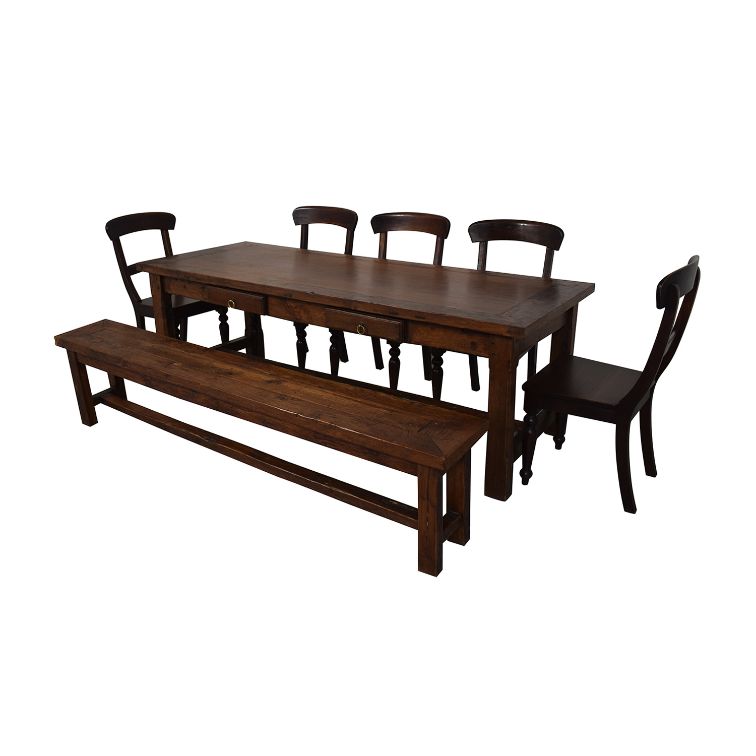 Crate & Barrel Crate & Barrel Extendable Dining Set with Bench price