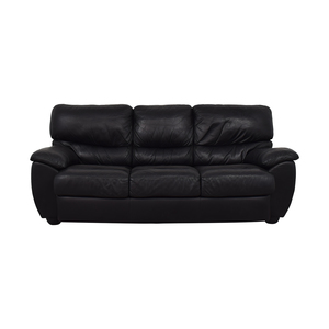 Black Three-Cushion Sofa