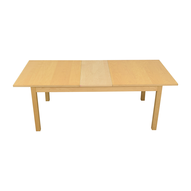 IKEA IKEA Bjursta Blonde Expandable Table nyc