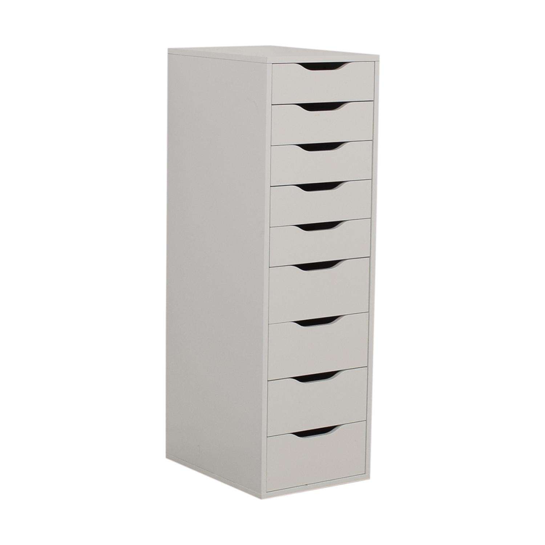 IKEA IKEA White Nine-Drawer Tall File Cabinet