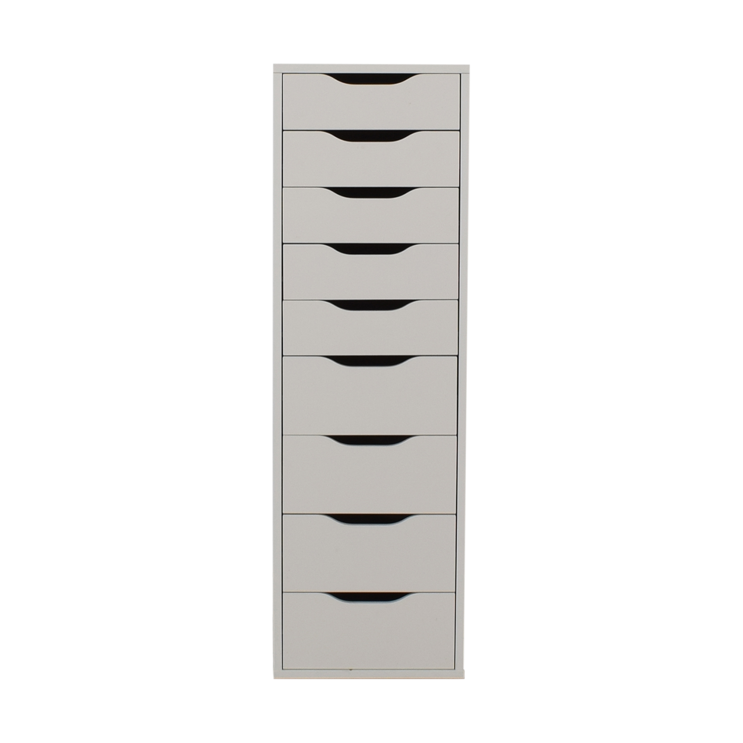80 Off Ikea White Nine Drawer Tall File Cabinet Storage