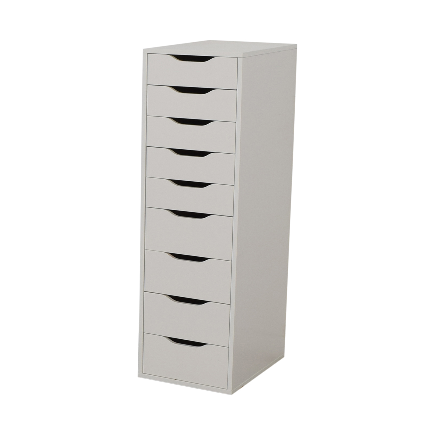 80% OFF - IKEA IKEA White Nine-Drawer Tall File Cabinet / Storage