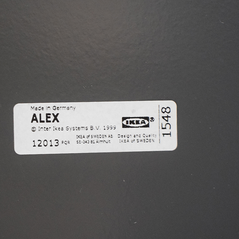 IKEA IKEA Alex Grey Two-Drawer Desk discount