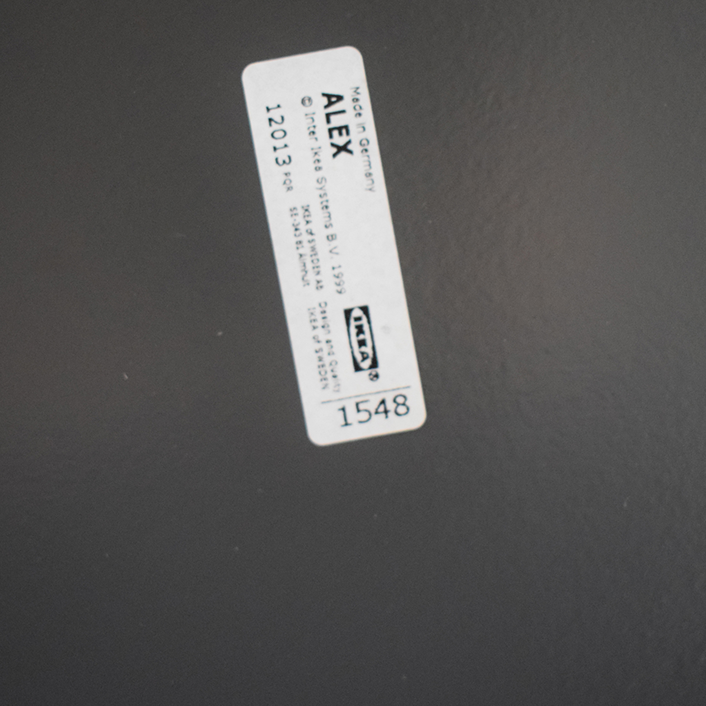 IKEA Alex Grey Two-Drawer Desk / Home Office Desks