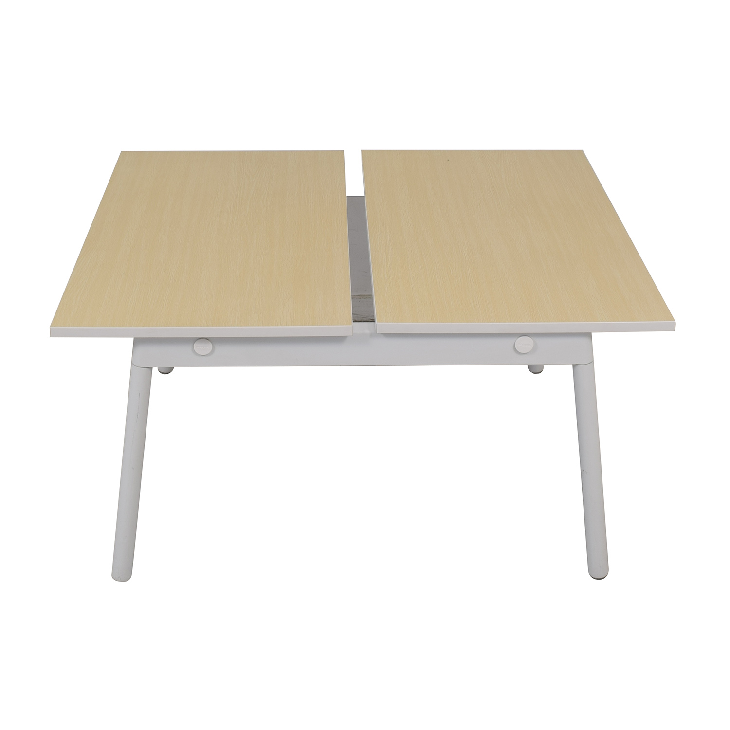 Poppin Poppin Series A Natural Oak Double Desk coupon