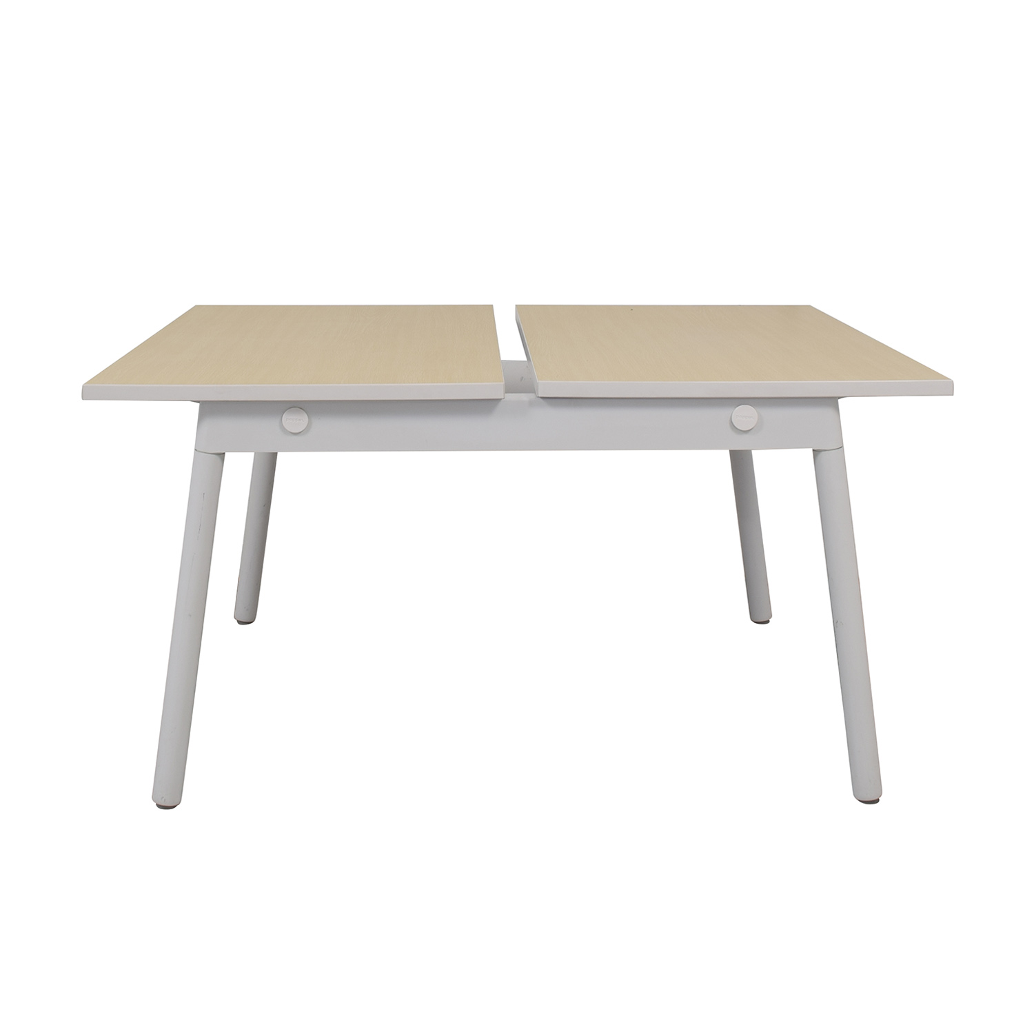 buy Poppin Series A Natural Oak Double Desk Poppin Home Office Desks