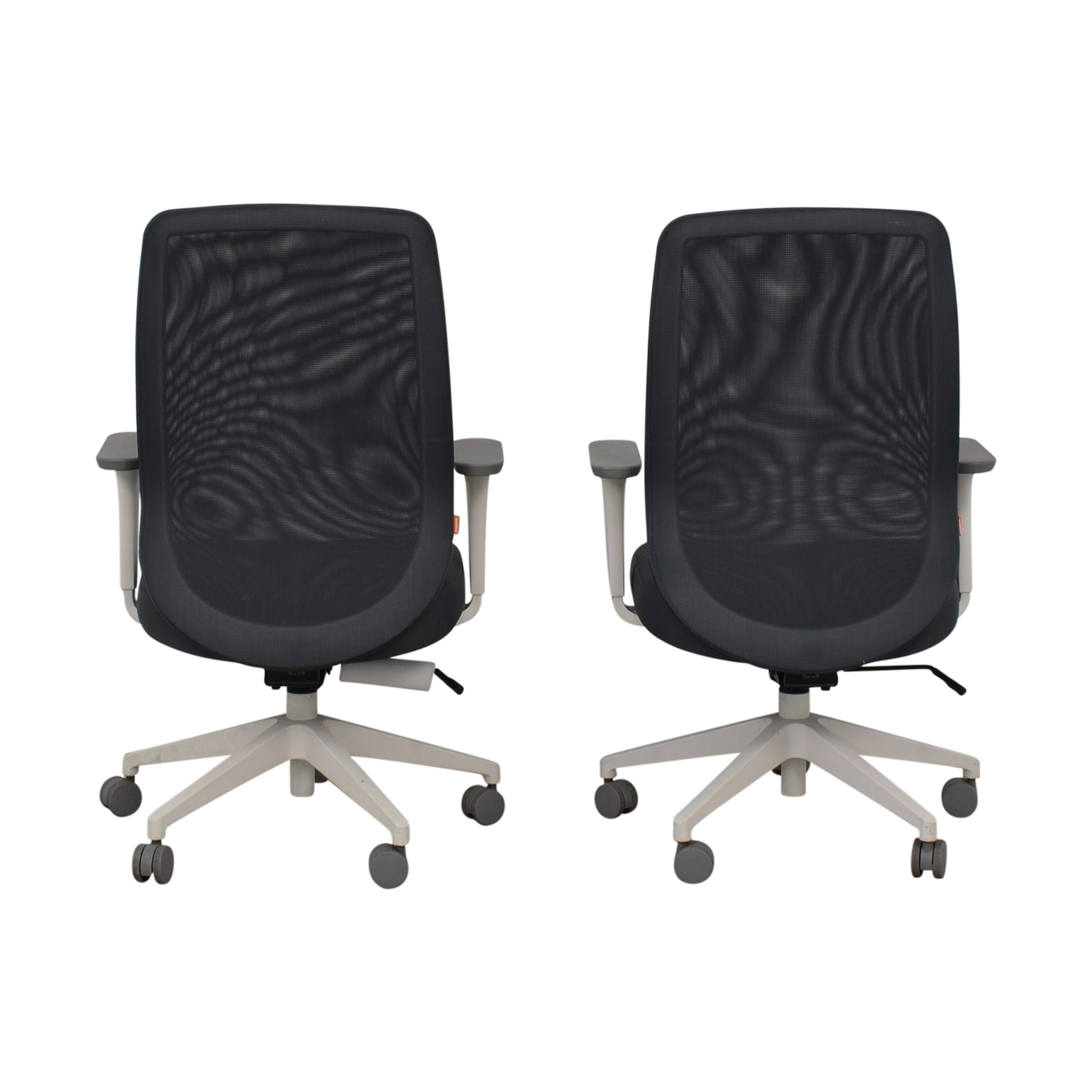 shop Poppin Gray Max Task Chairs Poppin