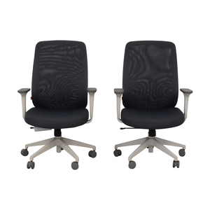 Poppin Poppin Gray Max Task Chairs for sale