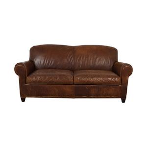 Crate & Barrel Crate & Barrel Rustic Cognac Two-Cushion Sofa dimensions