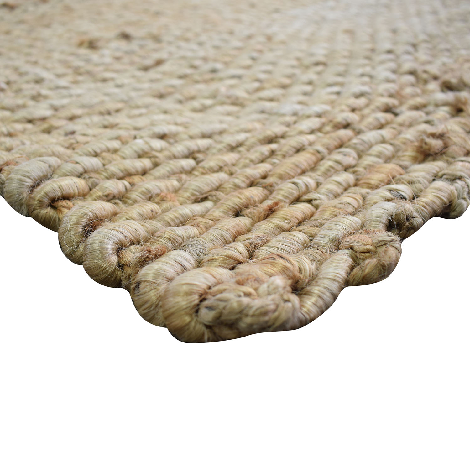 shop nuLoom Natural Jute Hand-Woven Chunky Rug nuLOOM