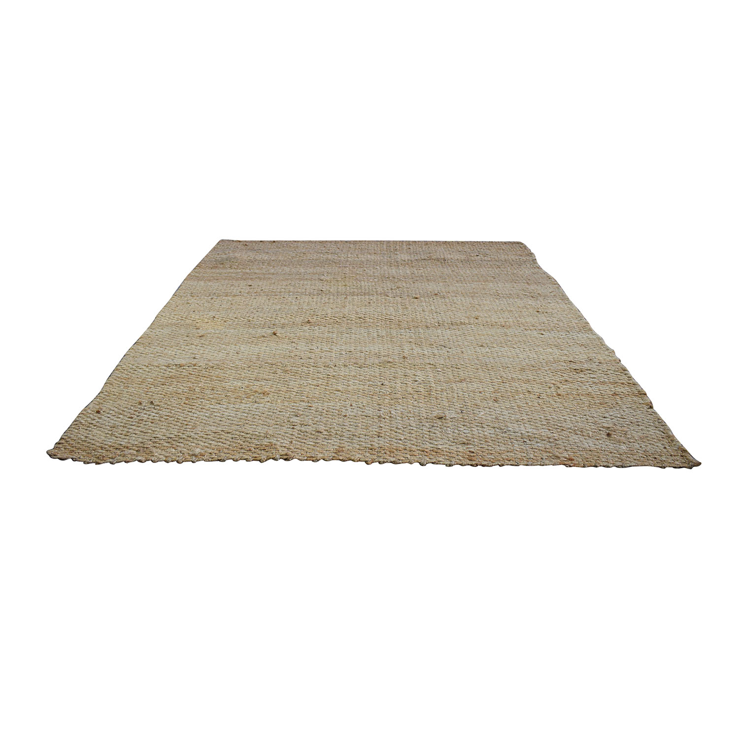 nuLOOM nuLoom Natural Jute Hand-Woven Chunky Rug used