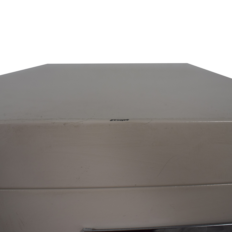 shop White Five-Drawer Filing Cabinet  Storage