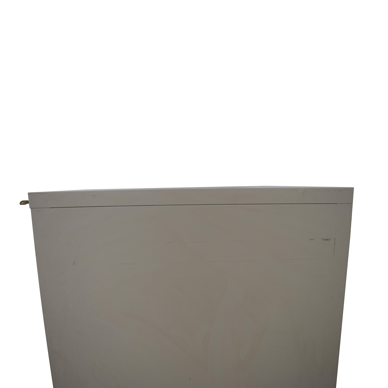 White Five-Drawer Filing Cabinet Storage