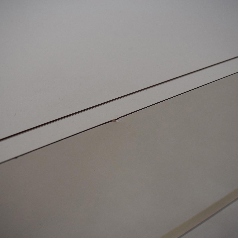 Custom White Three-Drawer End Table white