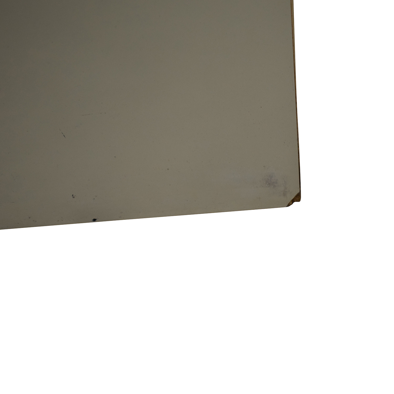 Custom White Three-Drawer End Table / End Tables