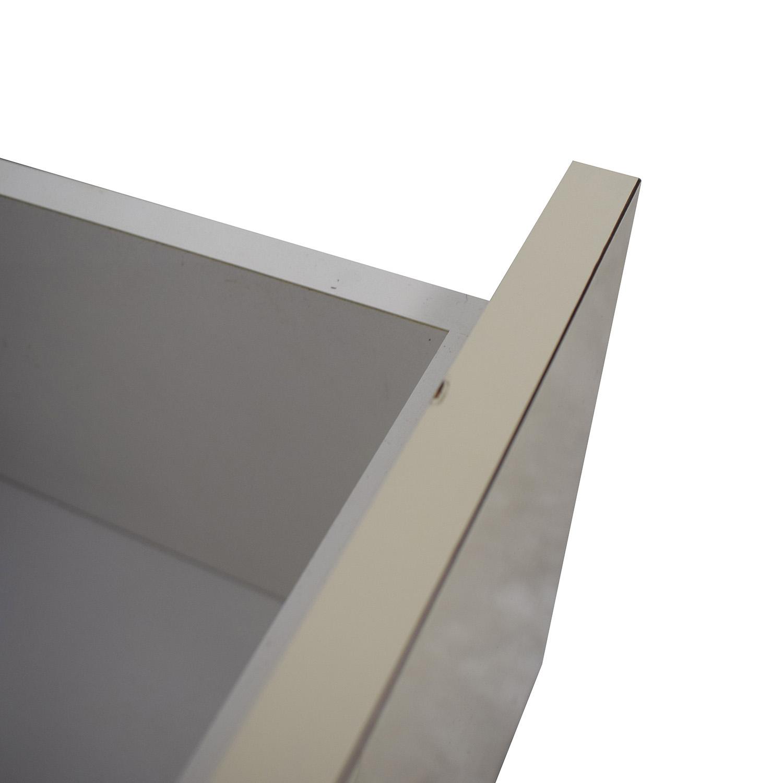 Custom White Three-Drawer End Table End Tables