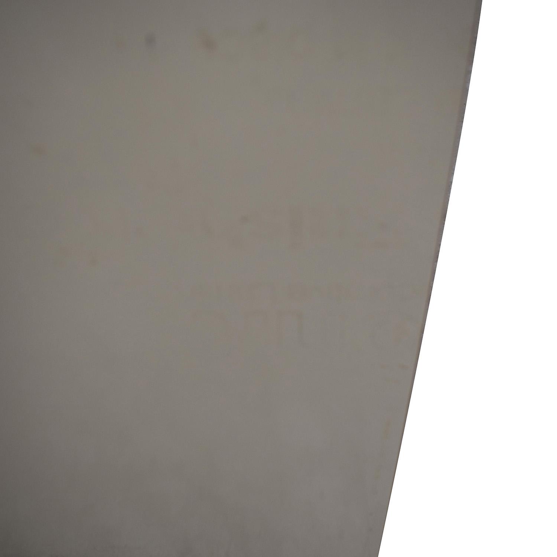 Custom White Three-Drawer End Table