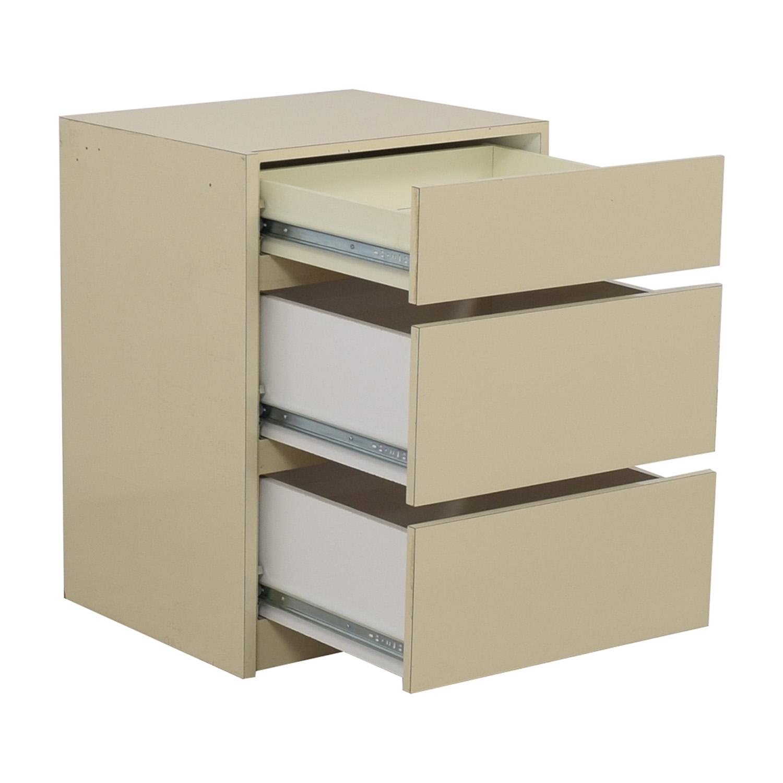 Custom White Three-Drawer End Table sale