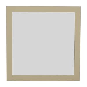 Custom White Framed Wall Mirror used