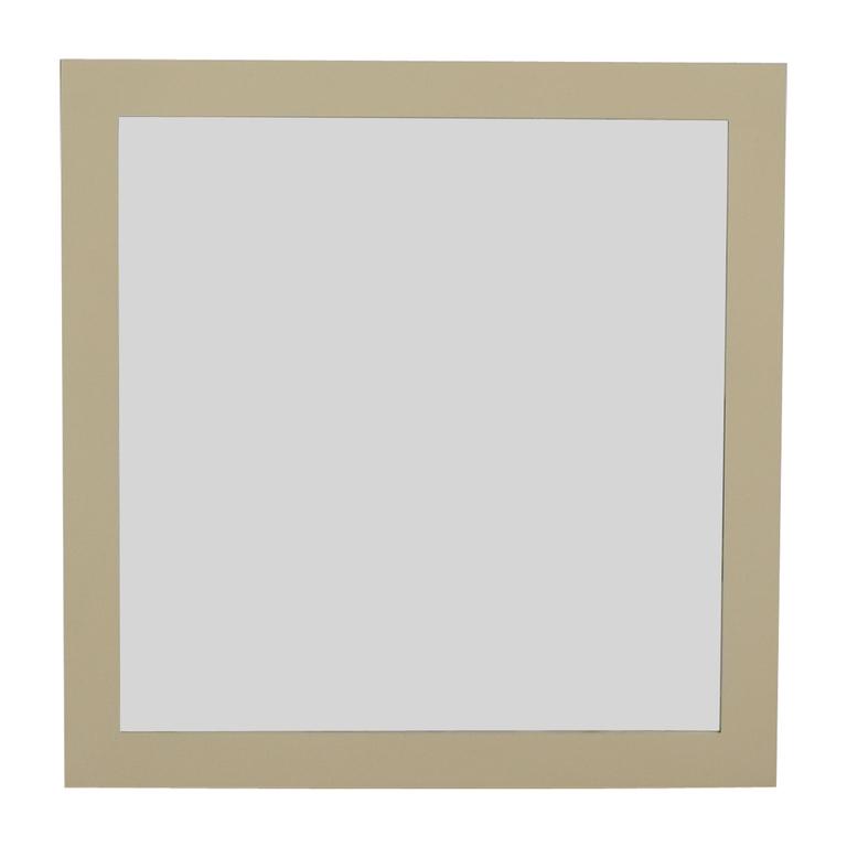 Custom White Framed Wall Mirror coupon