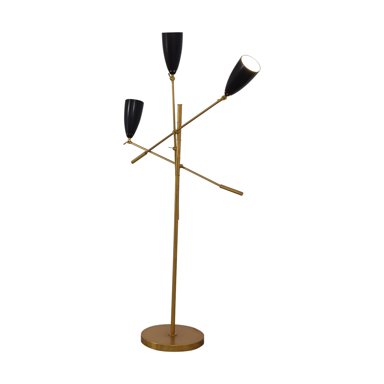 West Elm West Elm Gold and Black Floor Lamp price