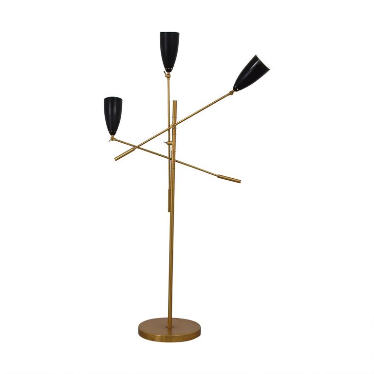 West Elm Gold and Black Floor Lamp / Decor