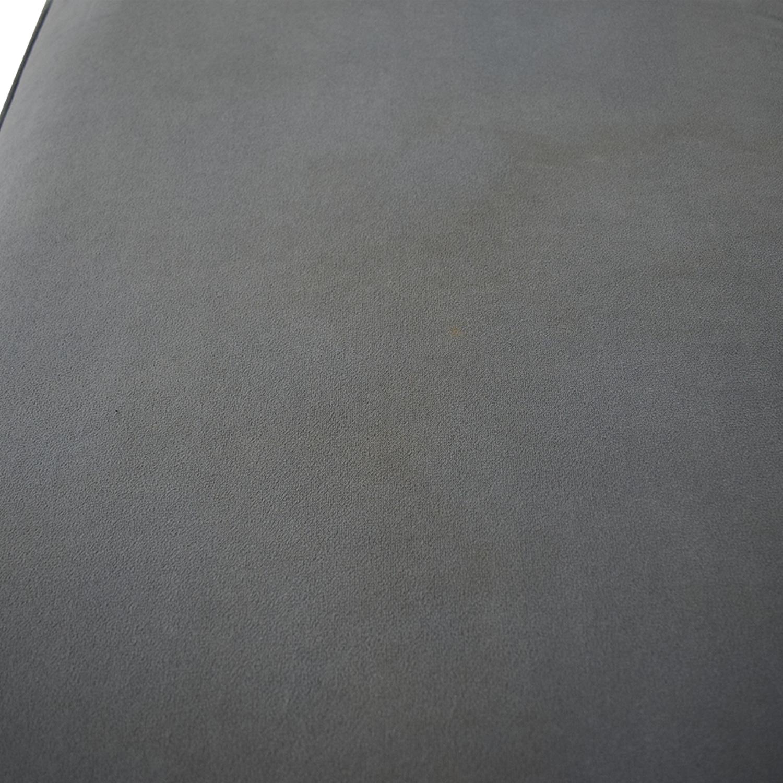 buy Abbyson Living Emily Light Blue Grey Ottoman Abbyson Living