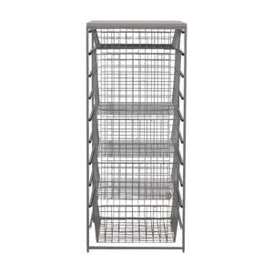 buy Elfa Platinum Metal Storage Rack Elfa