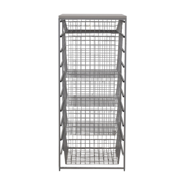 shop Elfa Platinum Metal Storage Rack Elfa Storage