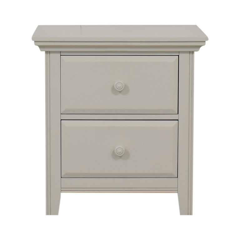 buy Raymour & Flanigan Raymour & Flanigan White Two-Drawer End Table online