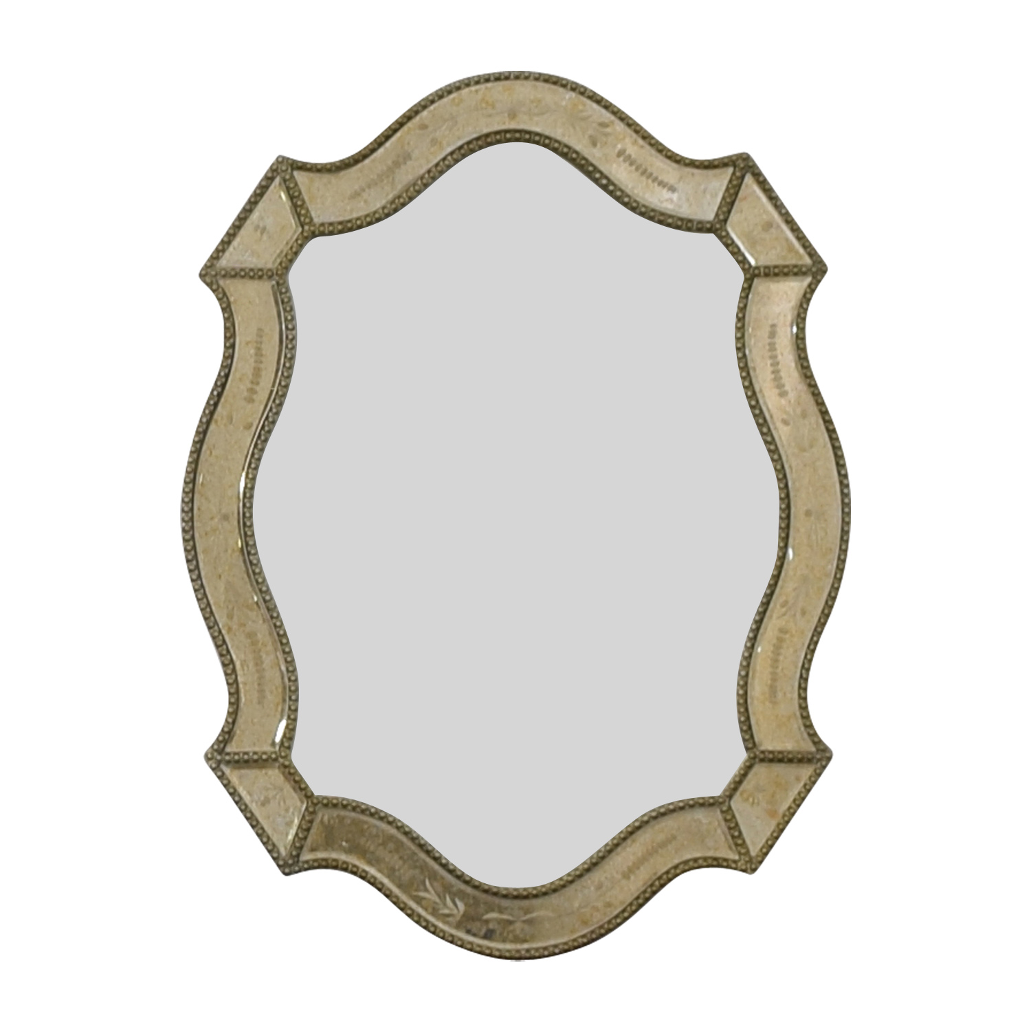 Uttermost Uttermost Distressed Gold Framed Wall Mirror price