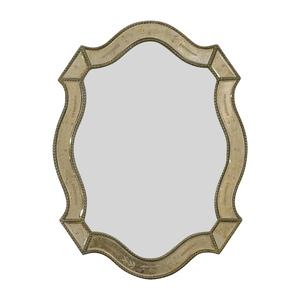 Uttermost Distressed Gold Framed Wall Mirror Uttermost