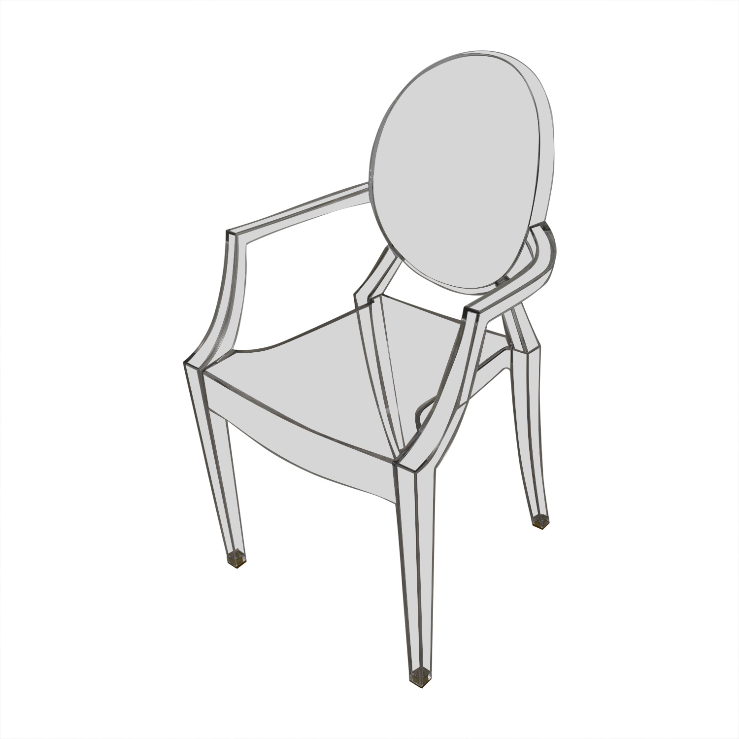shop Kartell Philippe Starck Louis Ghost Arm Chairs Kartell Dining Chairs