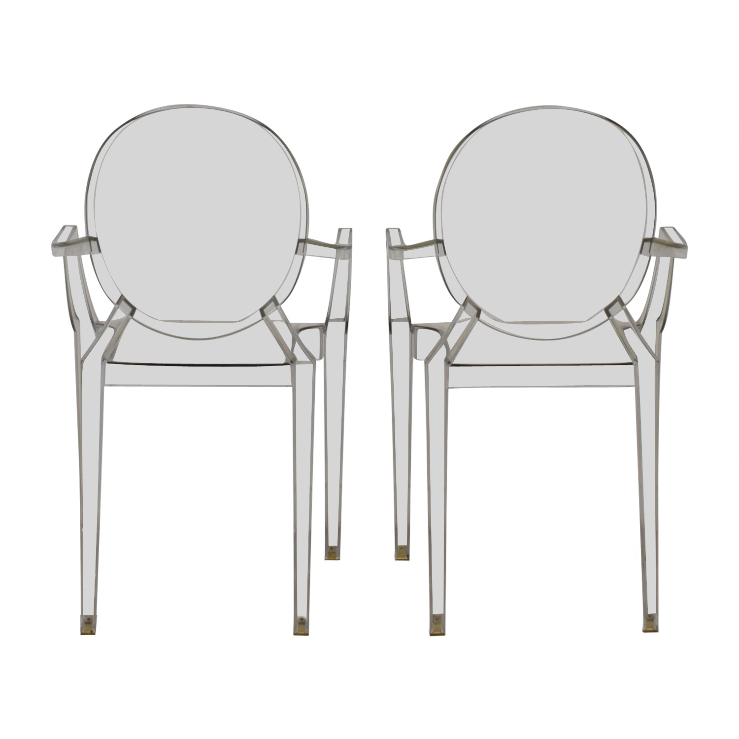 Kartell Philippe Starck Louis Ghost Arm Chairs Kartell