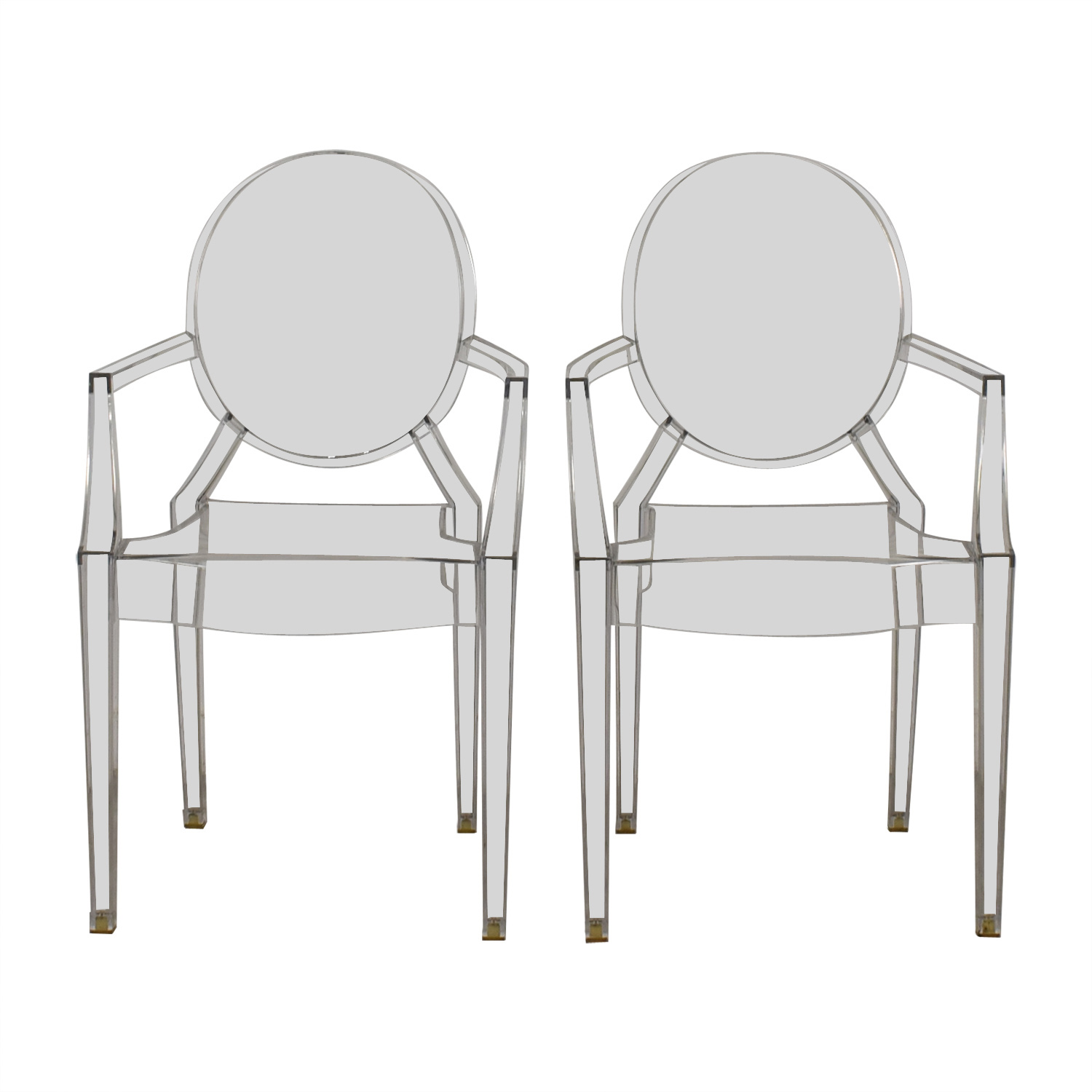 Kartell Kartell Philippe Starck Louis Ghost Arm Chairs on sale