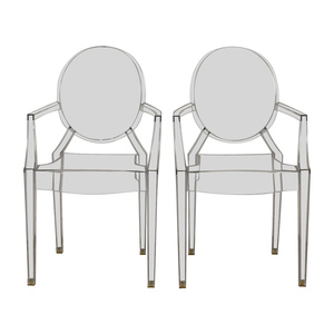 Kartell Kartell Philippe Starck Louis Ghost Arm Chairs second hand