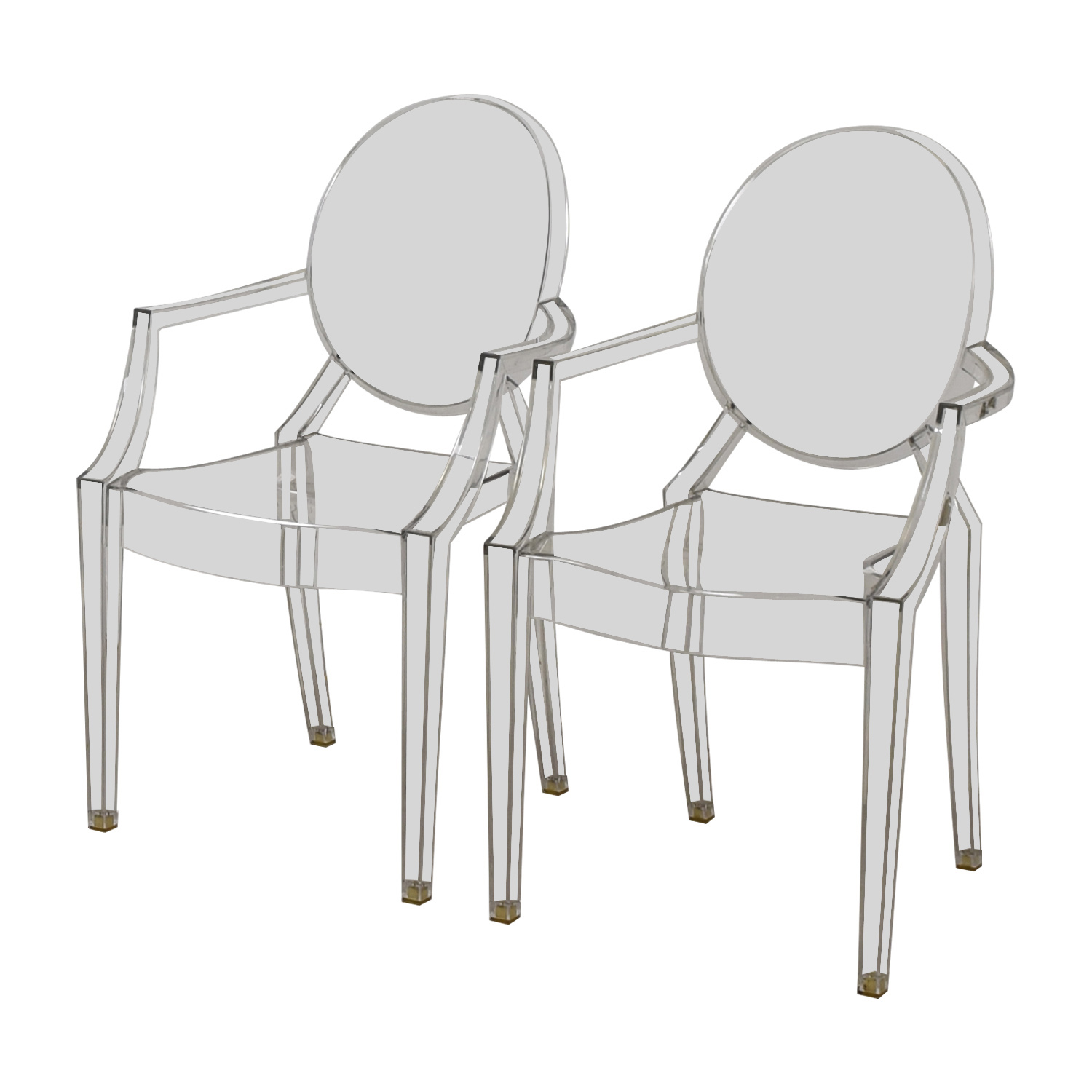 Kartell Kartell Philippe Starck Louis Ghost Arm Chairs Clear