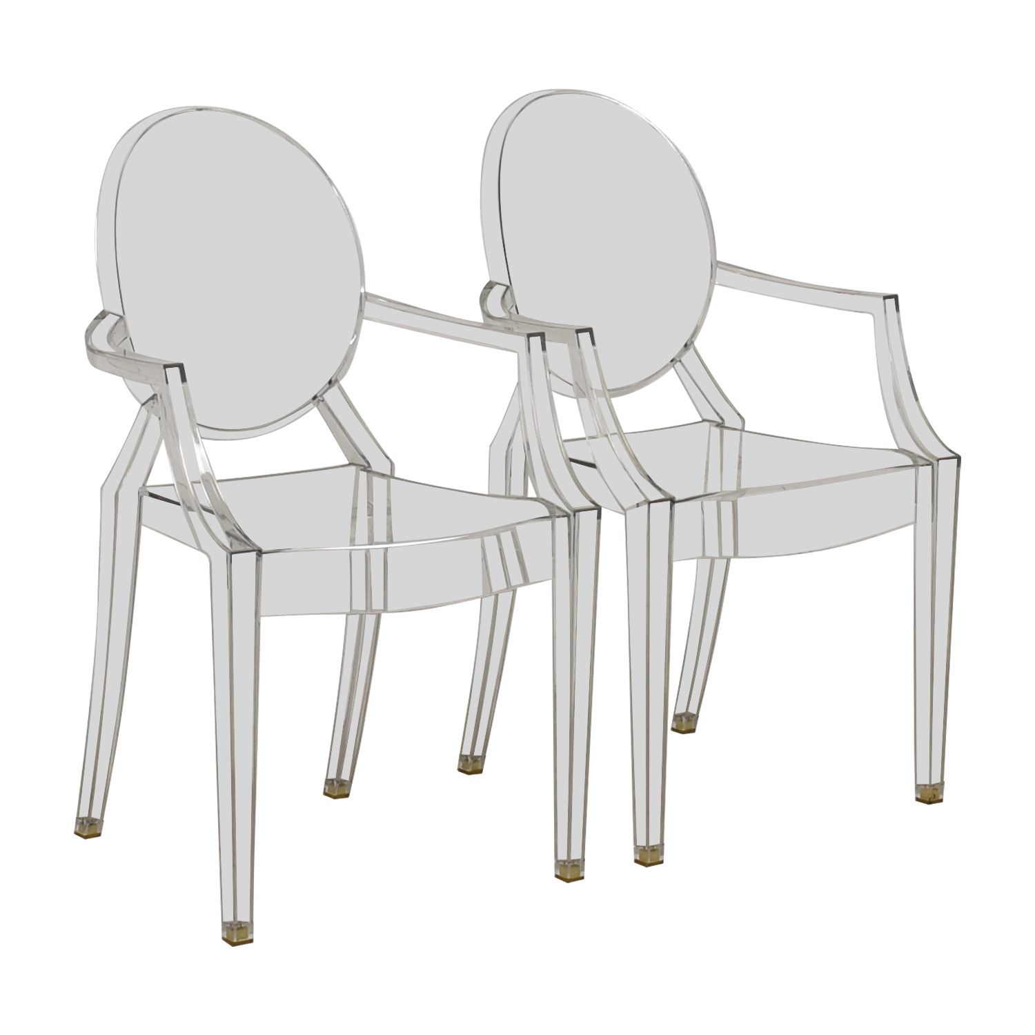 buy Kartell Kartell Philippe Starck Louis Ghost Arm Chairs online
