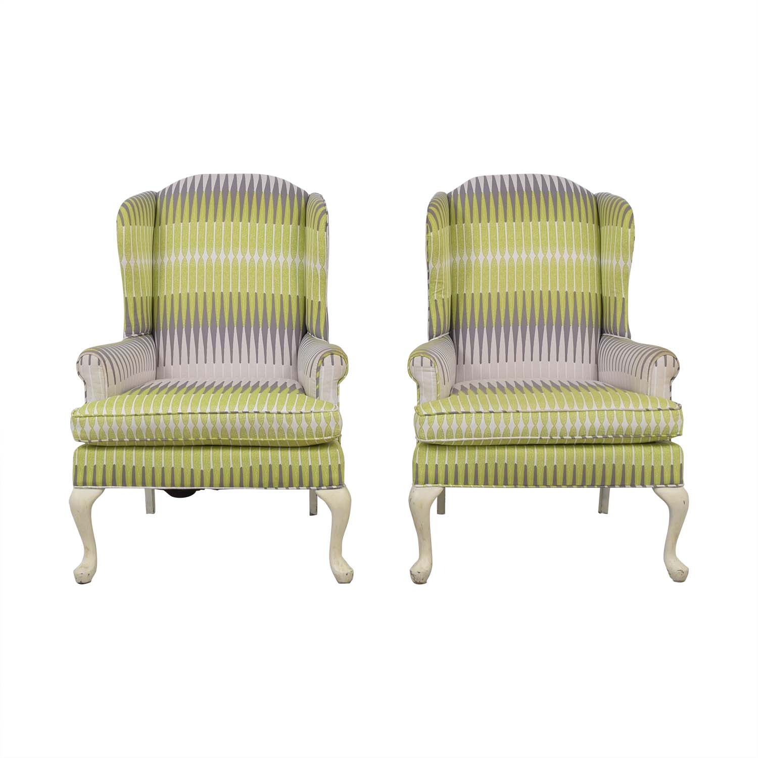 Reupholstered Wingback Arm Chairs sale