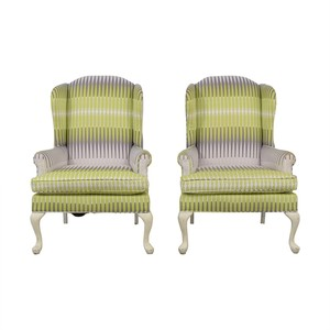 Reupholstered Wingback Arm Chairs