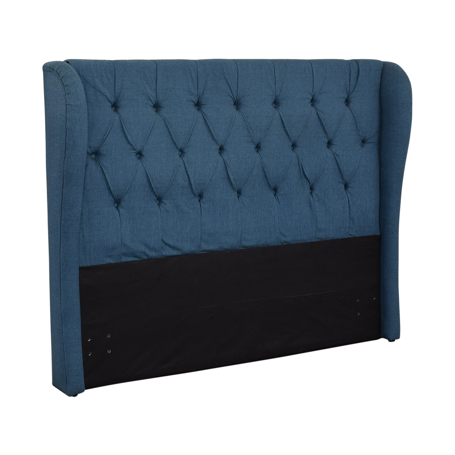 Blue Upolstered Tufted Queen Headboard sale